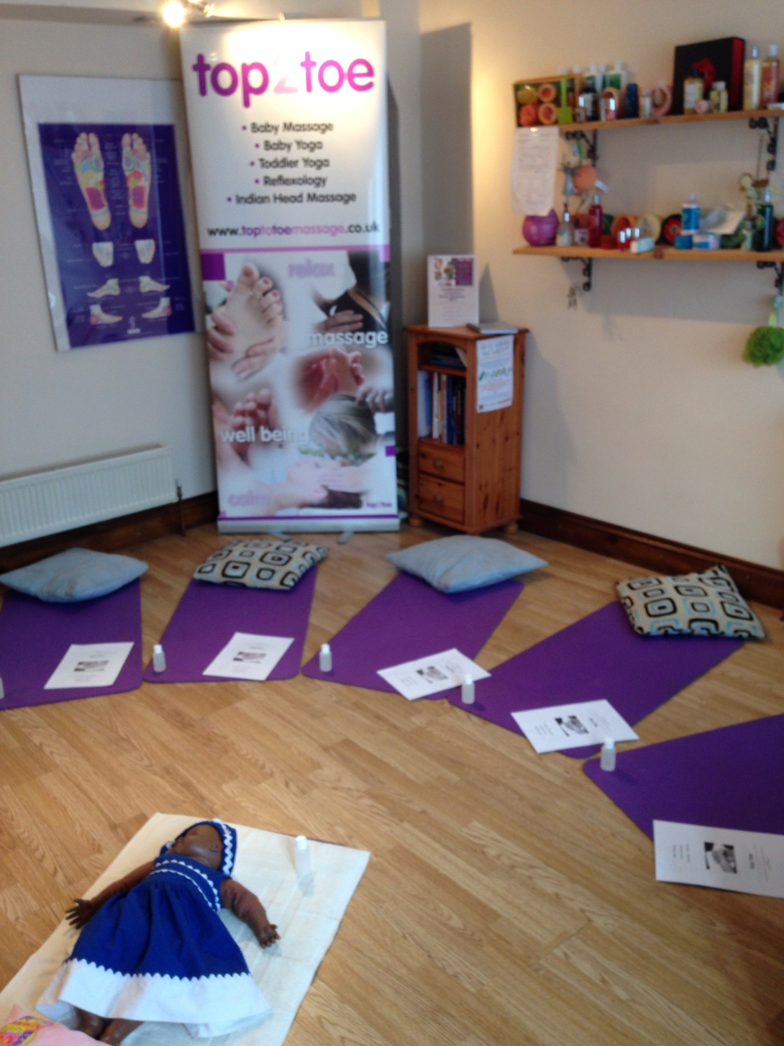 All set for Baby Massage classes..........